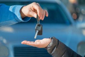 handing over car keys